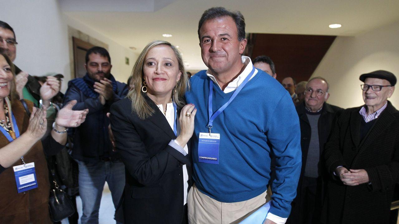 Pablo Casado, en una reciente visita a Santiago