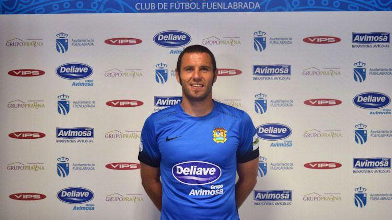 Diego Cervero en la presentación con el CF Fuenlabrada