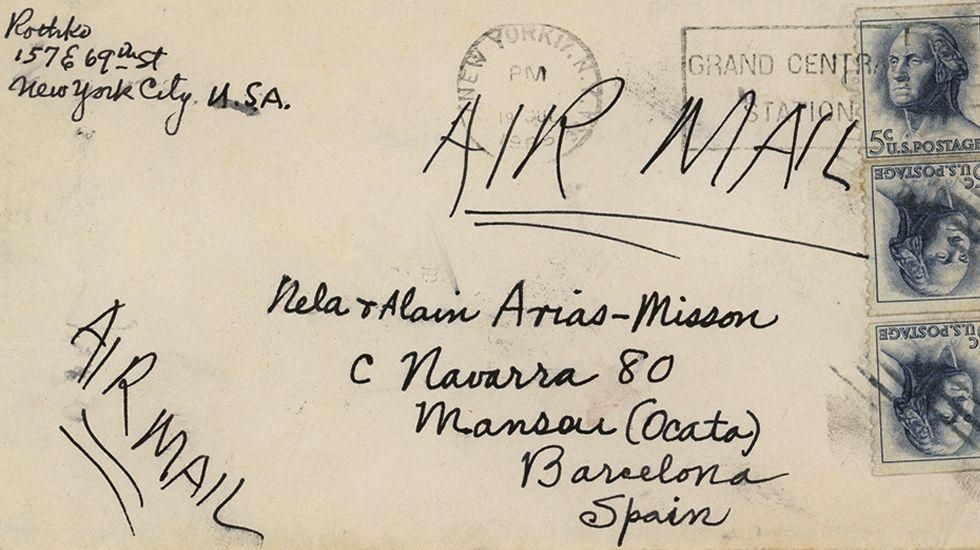 Carta de Mark Rothko a Nela Arias-Misson