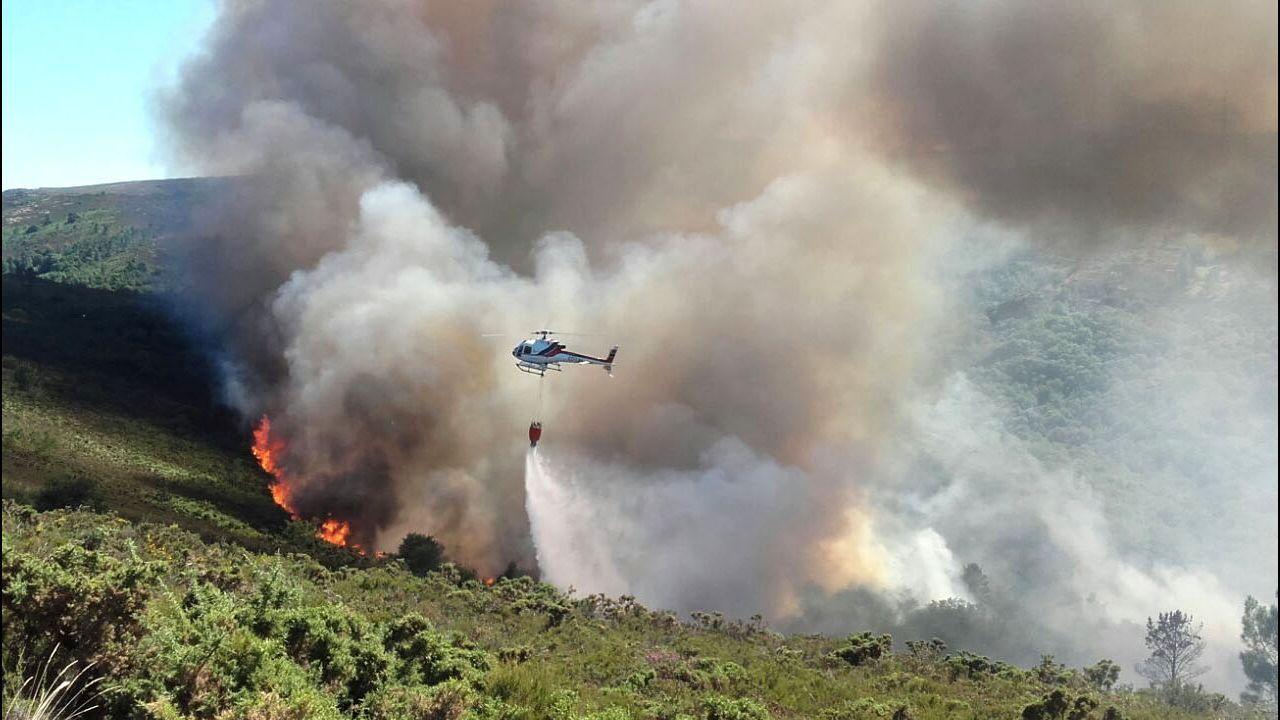 Incendio el pasado mes de mayo en Santiago