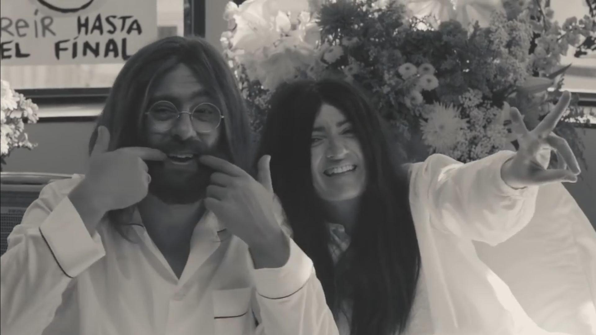 La promo de los Goya 2019: «Ríete en paz» con Silvia Abril y Andreu Buenafuente.Noé suelta la paloma. Mosaico del siglo XIII en el pórtico del atrio de la basílica de San Marcos de Venecia