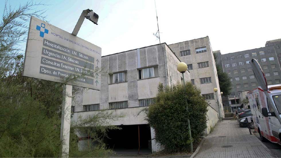 Los Reyes, en Asturias.ANTIGUOS EDIFICOS DONDE SE ENCONTRABA EL HOSPITAL UNIVERSITARIO CETRAL DE ASTURIAS, AHORA ABANDONADO
