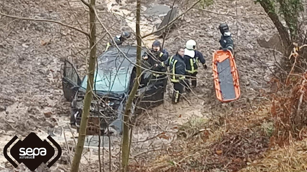 Accidente de tráfico con un fallecido en Mieres