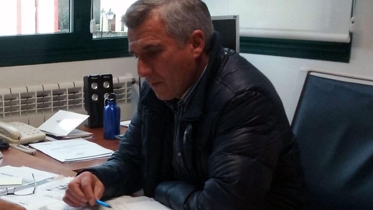El alcalde de Sobrescobio, Marcelino Martínez
