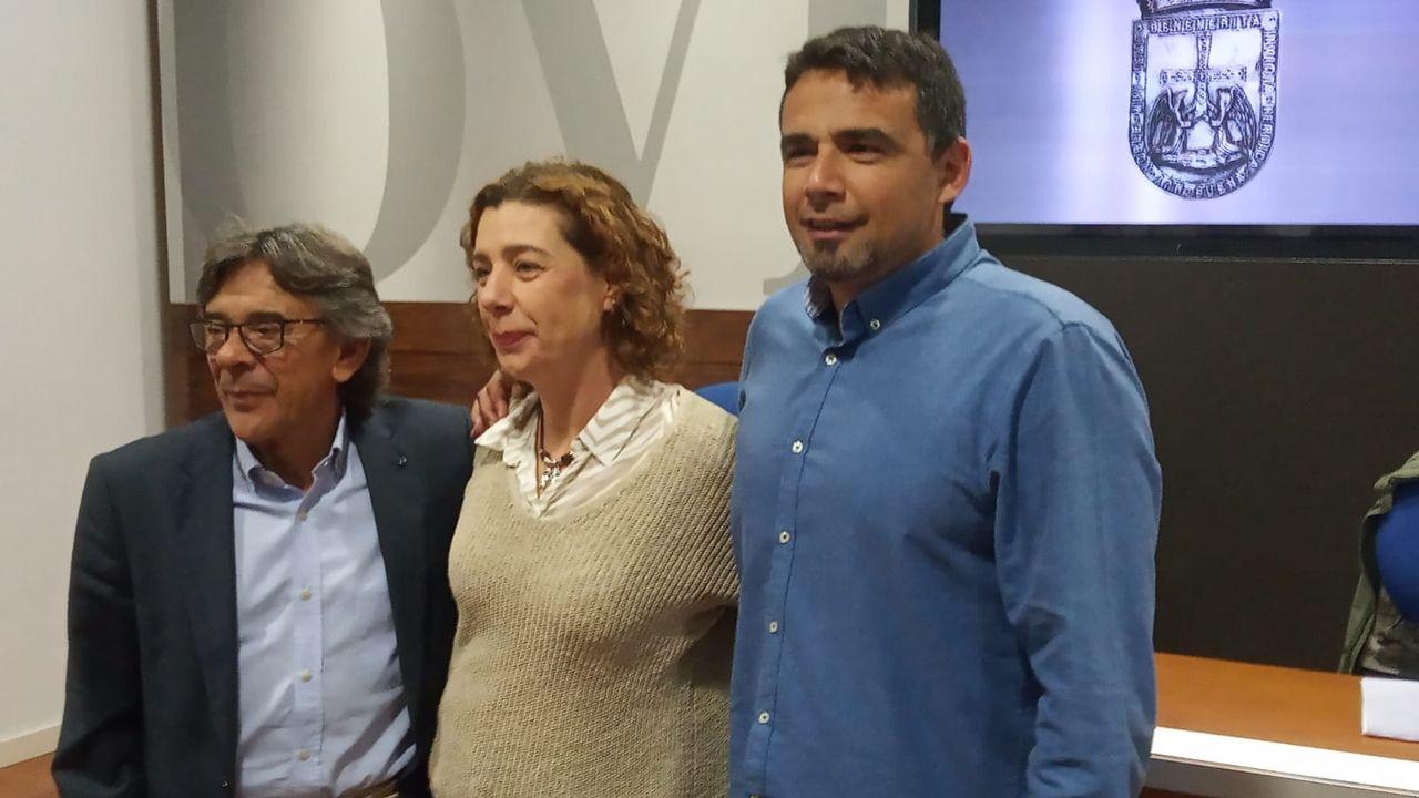 Roberto Sánchez Ramos «Rivi», Cristina Pontón e Iván Álvarez