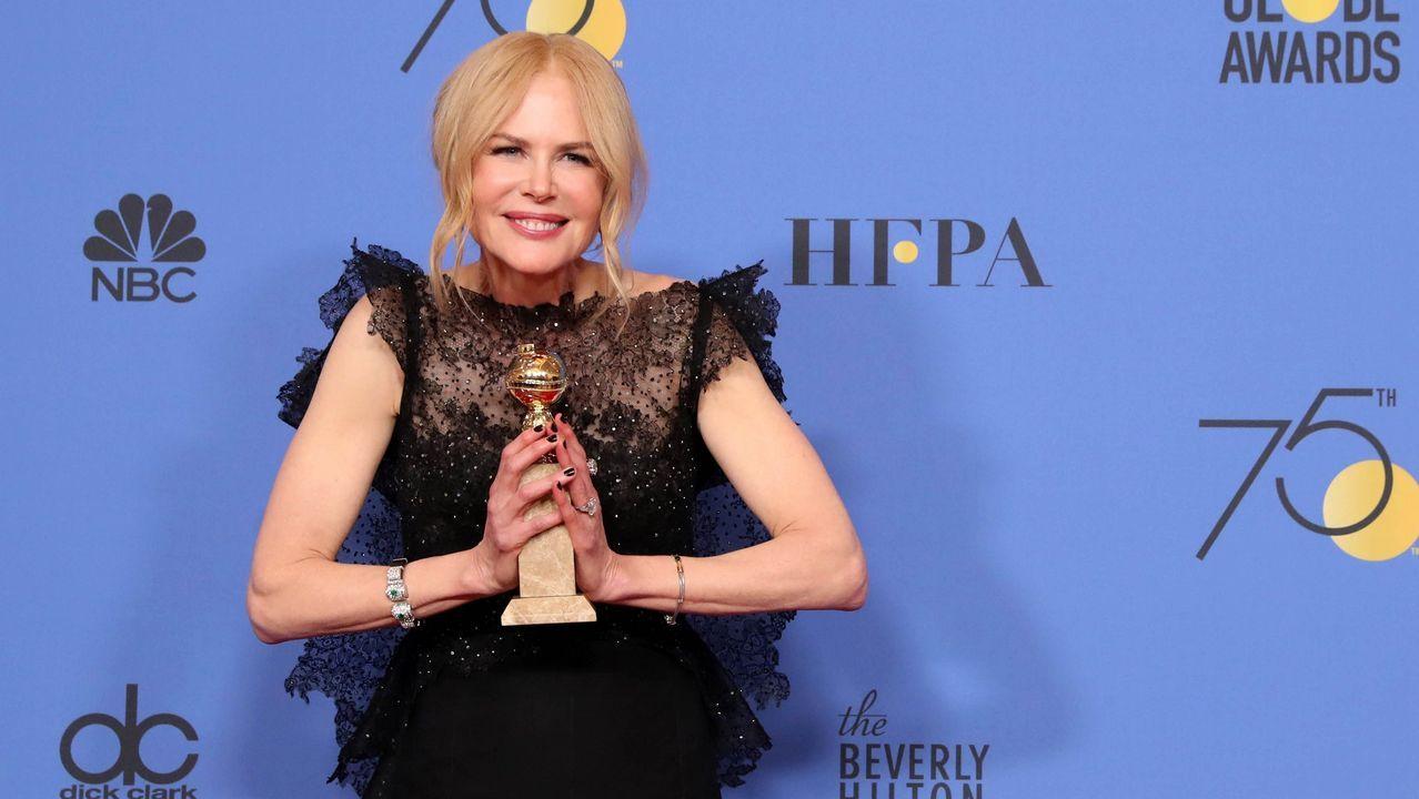 En televisión, mejor actriz de miniserie: Nicole Kidman, por «Big Little Lies».