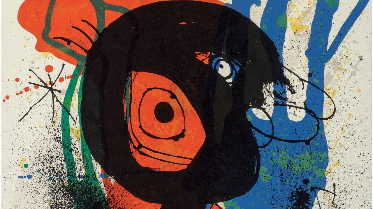 Detalle de «Miró. Sobreteixims» (1973), una litografía sobre papel
