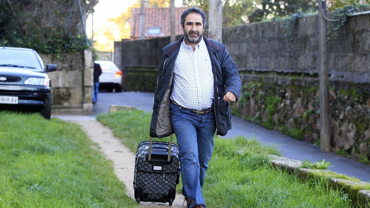 José Manuel Costas, dirigiéndose al juzgado en el año 2013