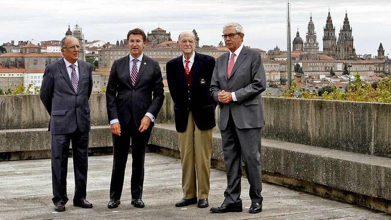 Cumbre de presidentes en Monte Pío.A obra sobre Sabell editada polo Centro Ramón Piñeiro presentouse onte en Santiago.