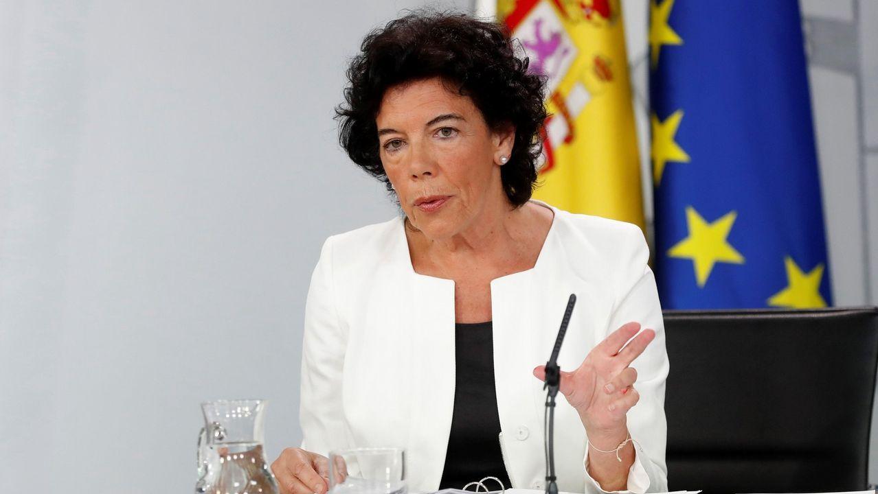 .La ministra de Educación, Isabel Celaá