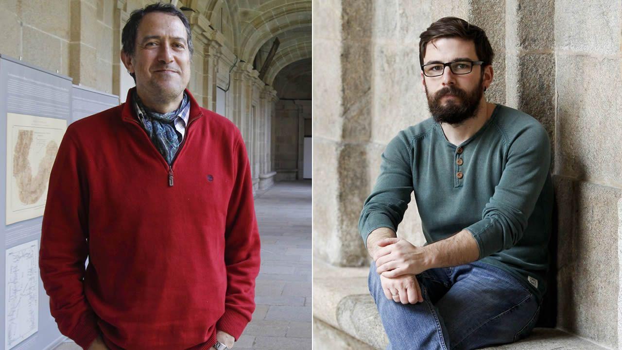 Un viaje por las tradiciones navideñas en el Gaiás.Ramón Fábregas Valcarce y Carlos Rodríguez Rellán, en sendas imágenes de archivo