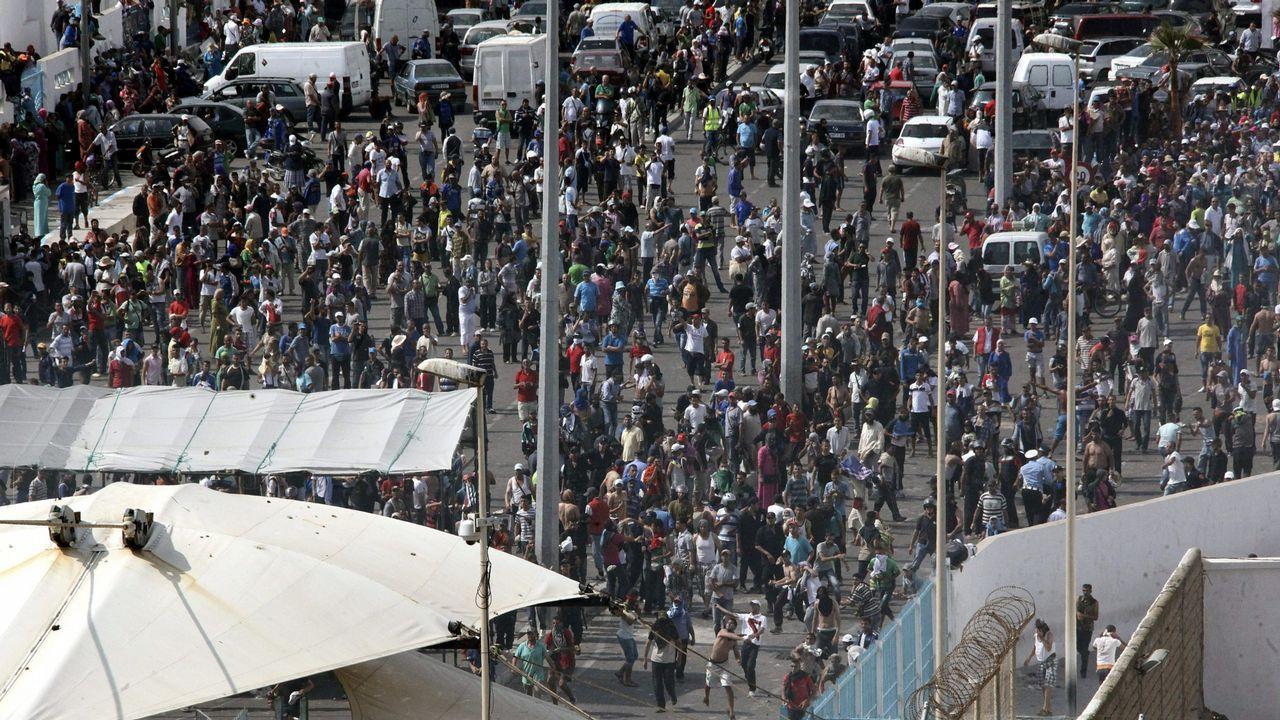 Paso fronterizo en Ceuta