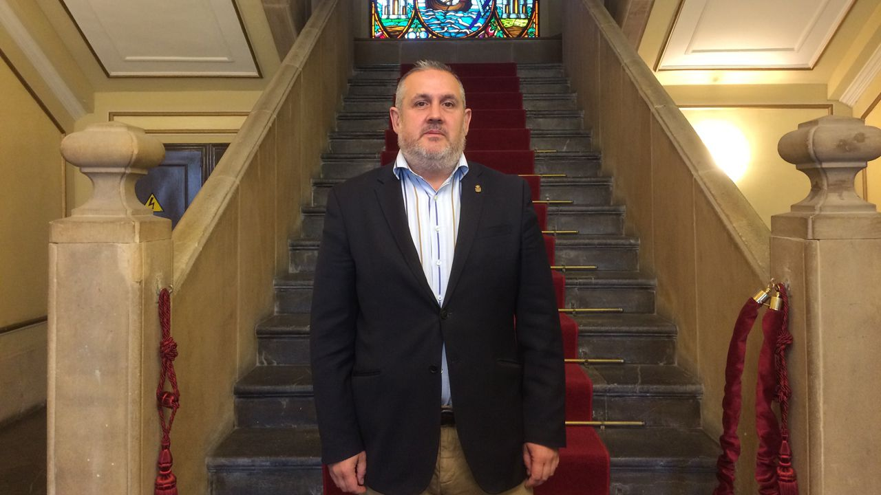 El candidato de UCIN a la alcaldía de Avilés, Alfonso Araujo