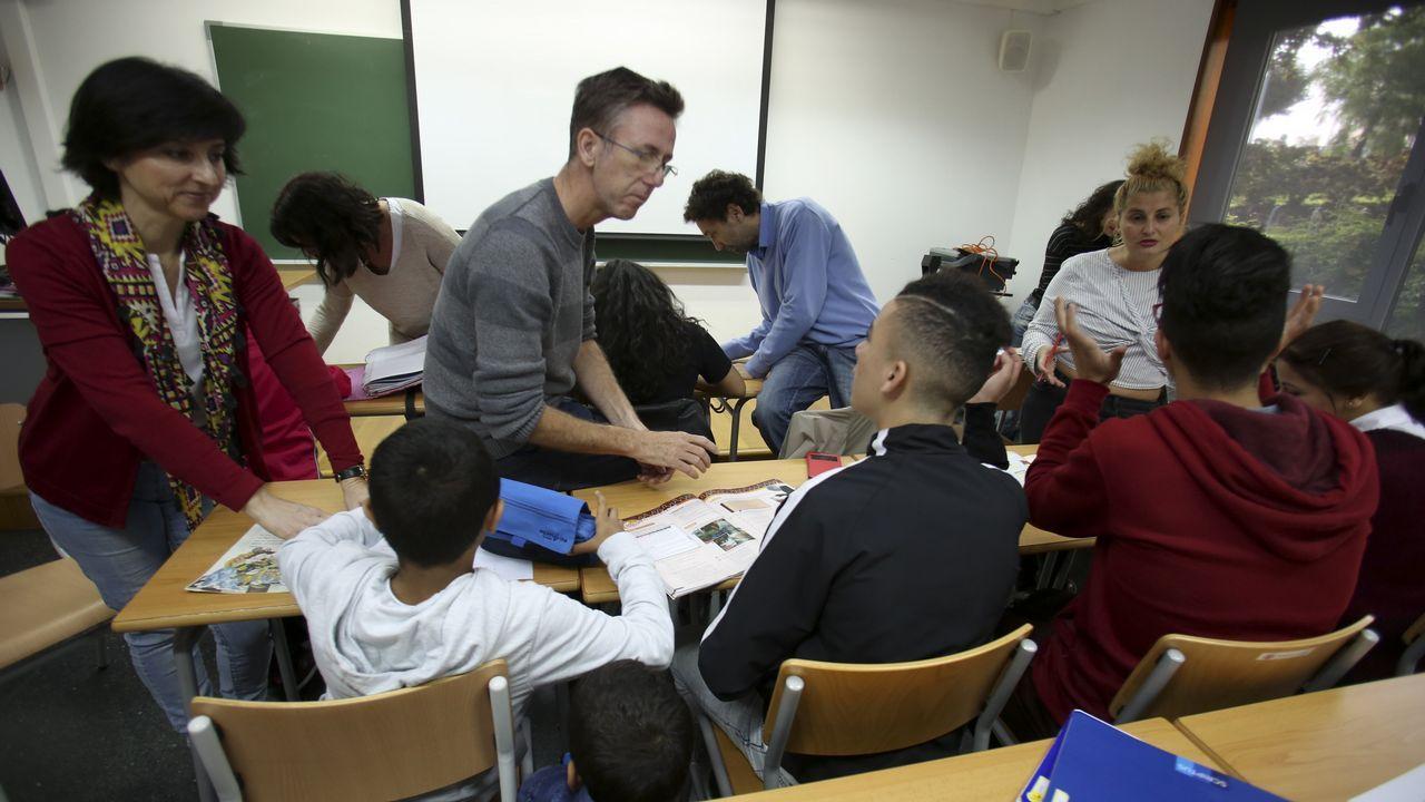 Imagen tomada el sábado pasado en el aula de apoyo escolar de la OCV en el campus de Ferrol