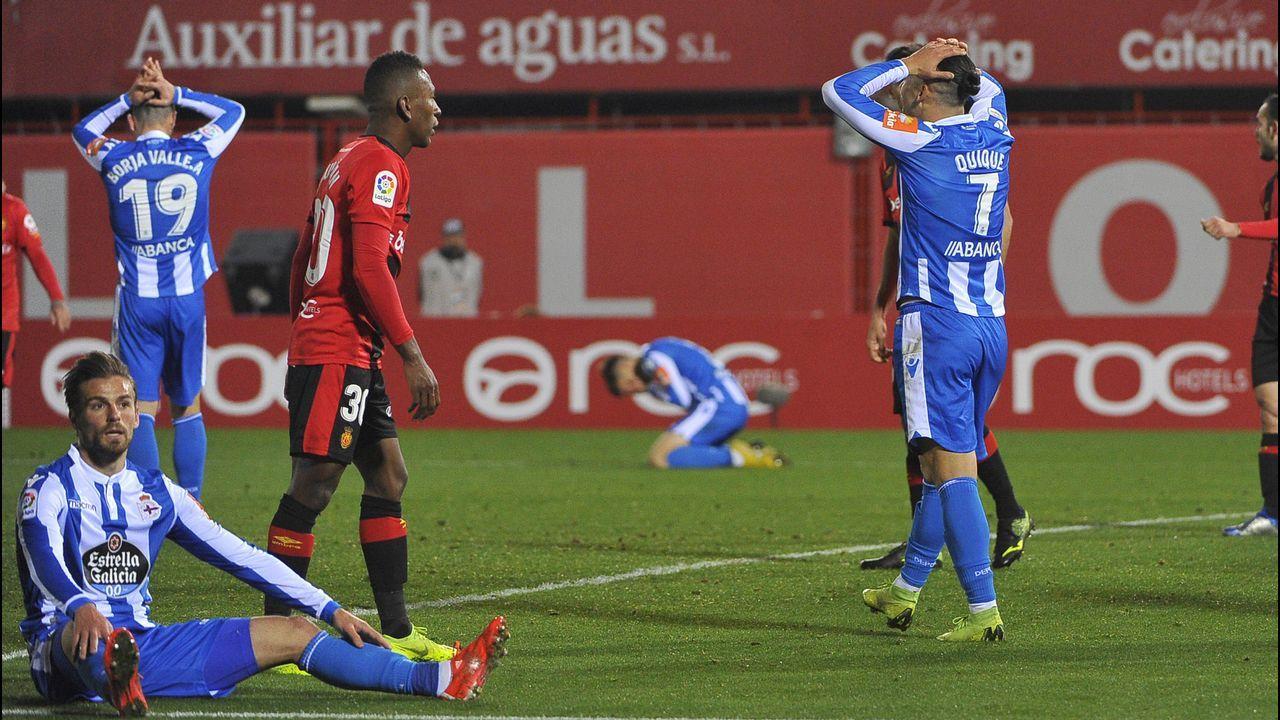 Mallorca - Deportivo en imágenes.El Deportivo está obligado a reaccionar el domingo en el inicio de la segunda vuelta