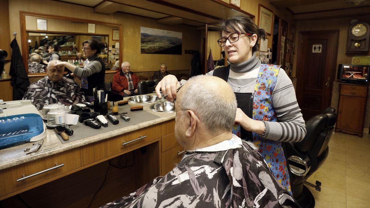 Concentración de jubilados en Foz