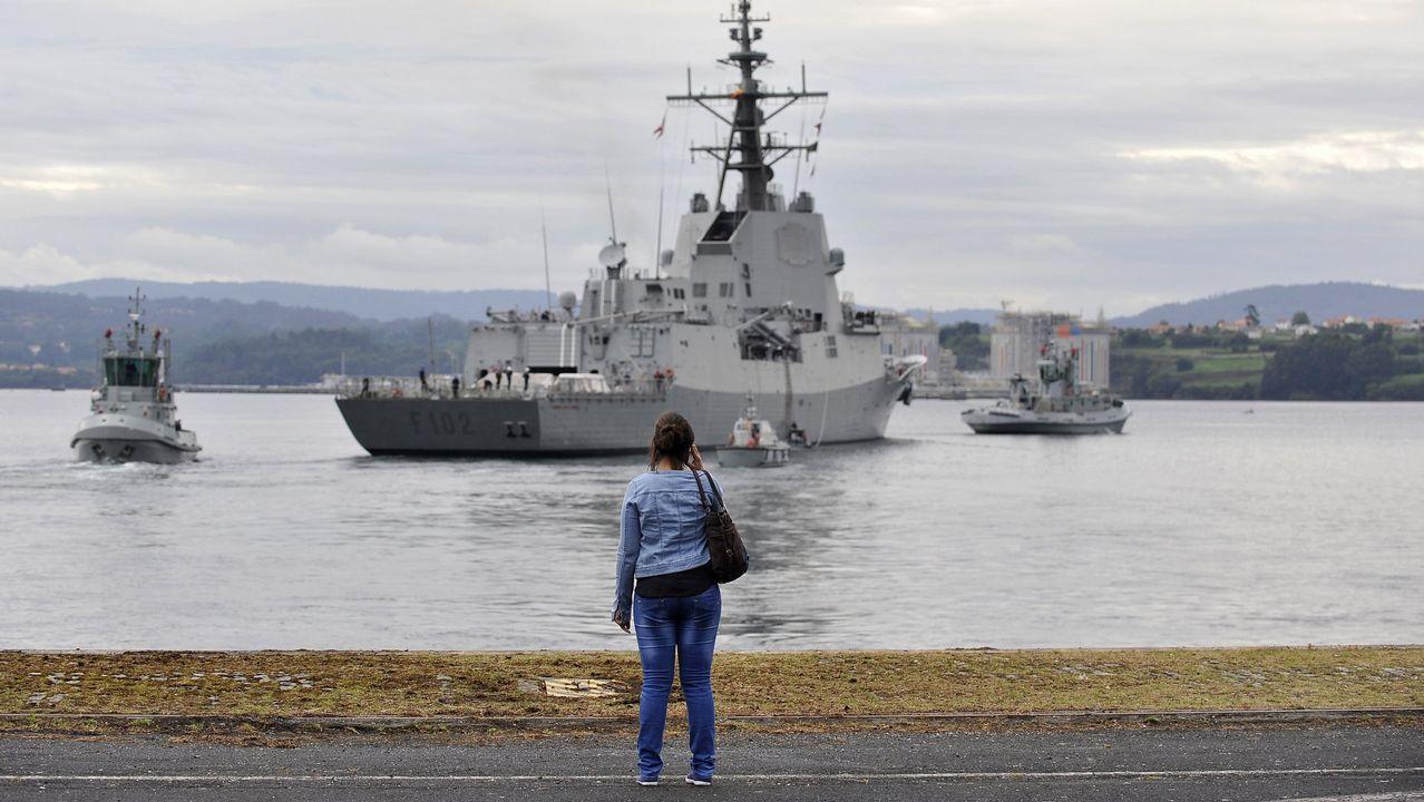 Despedida de la F-102 en el Asenal Militar de Ferrol