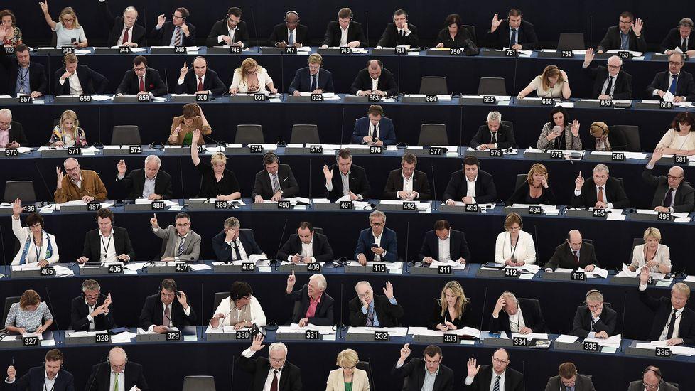 Así es el humor en blanco y negro de Flavita Banana.Diputados del Parlamento Europeo en plena votación.