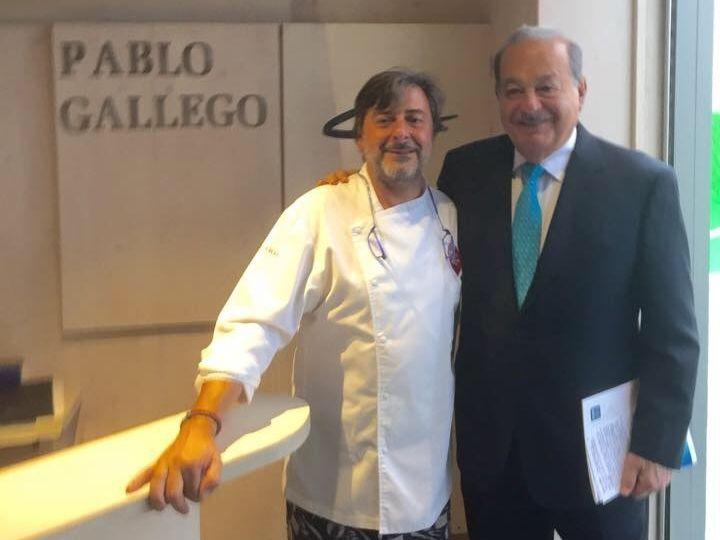 .El empresario Carlos Slim aprovechó su visita a A Coruña para conocer el restaurante de Pablo Gallego.