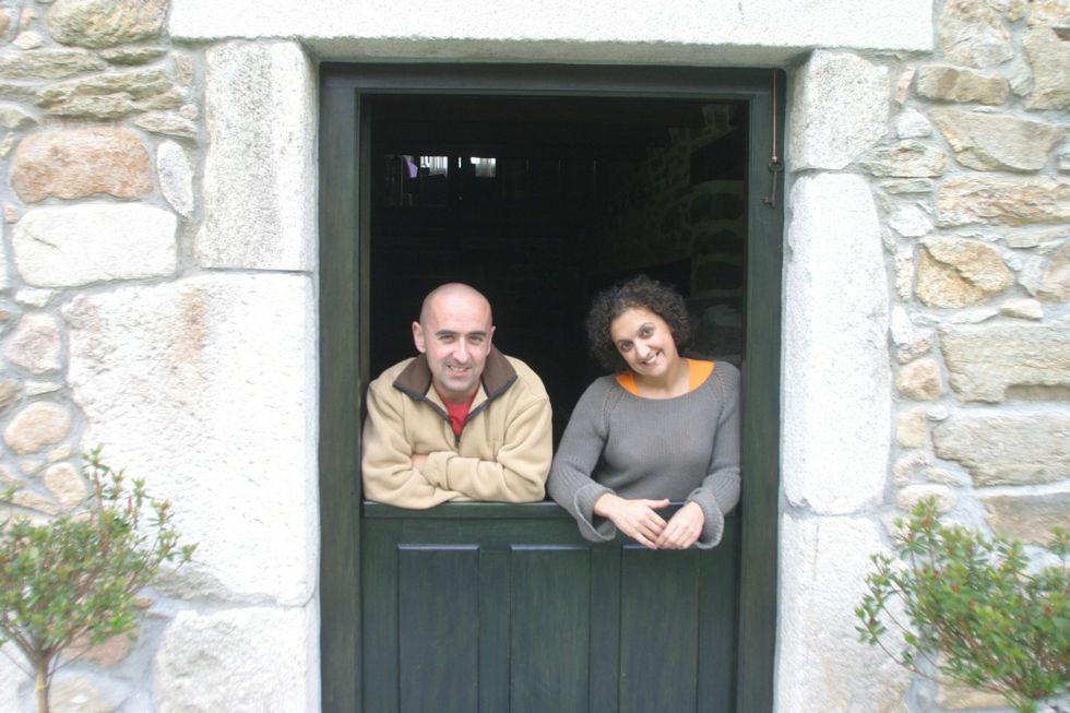 Los propietarios del establecimiento, Antón Vázquez y Luz Pena.