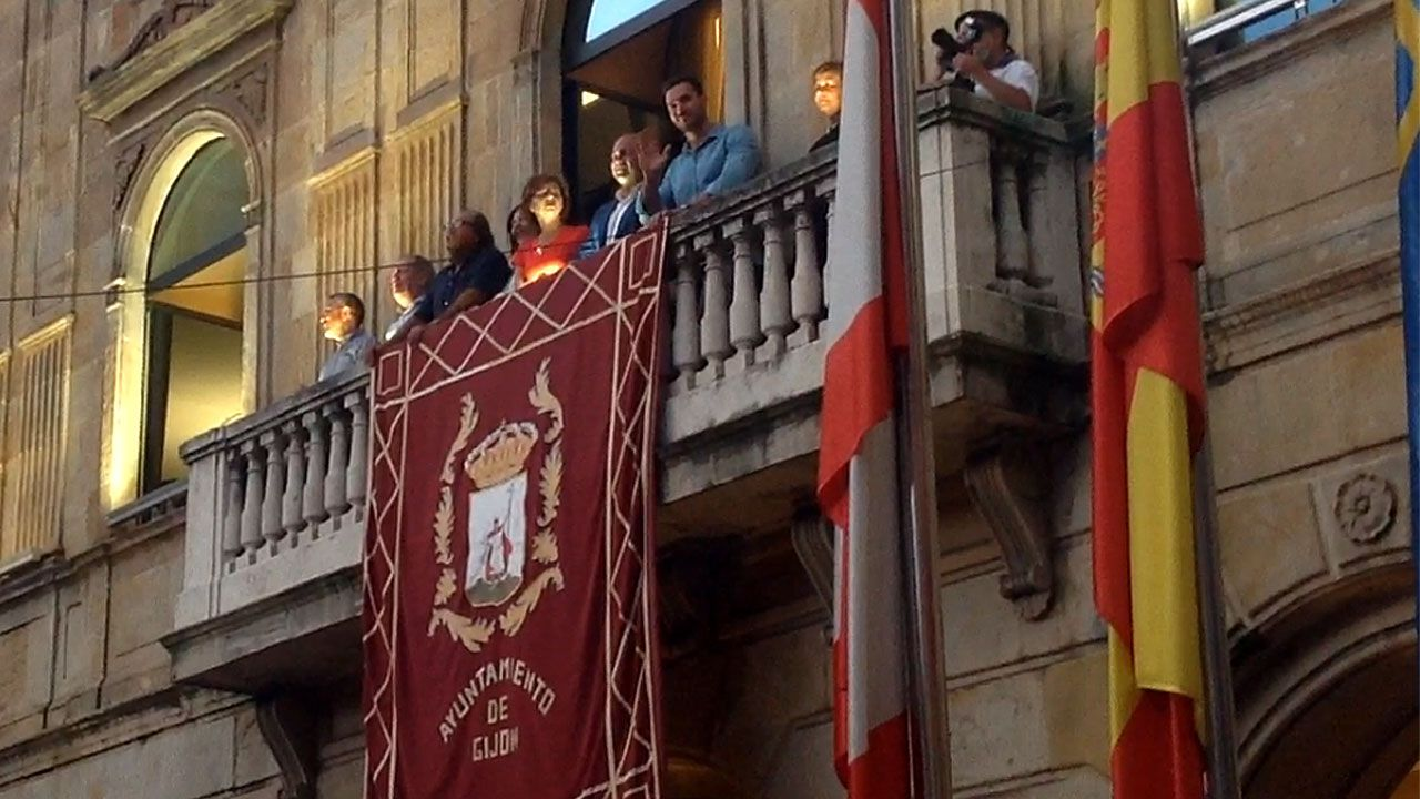 Final del pregón de Saúl Craviotto en la Semana Grande de Gijón 2018