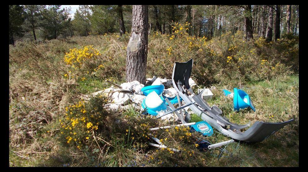 La feria de ternera gallega de Láncara, en imágenes.José Carlos Torre, ayer en el lugar en que aparecieron las pertenencias de su padre.