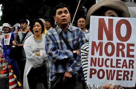 Las protestas antinucleares se sucedieron toda la semana en las ciudades japonesas.