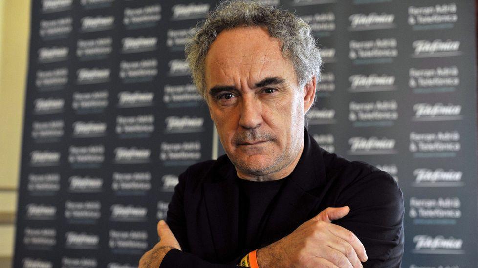 Ferran Adriá apadrina a los emprendedores escoleres de Chapela.Ferrán Adriá