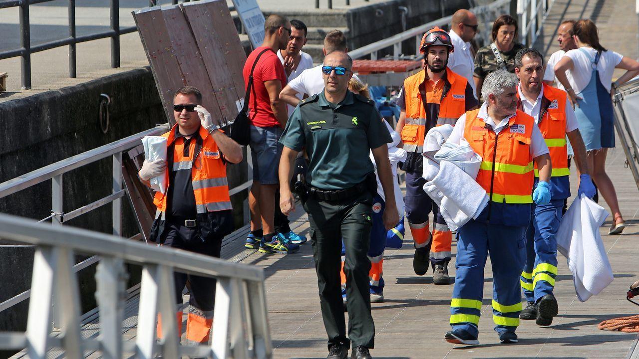 Al accidente acudieron efectivos de emergencias de toda la comarca