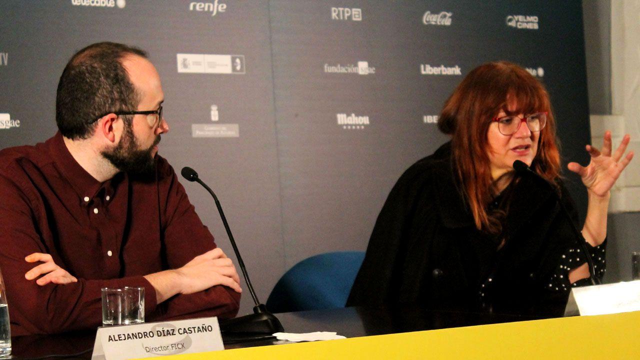 .Isabel Coixet, junto a Alejandro Díaz Castaño, en el FICX