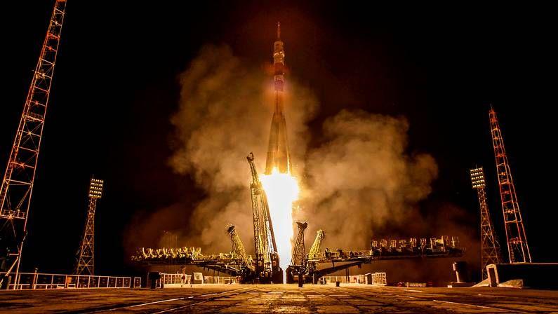 .Despegue del cohete Soyuz TMA-13M