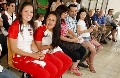 Da Costa y Morison, en el homenaje que recibieron tras su bronce en el Campeonato de Europa.