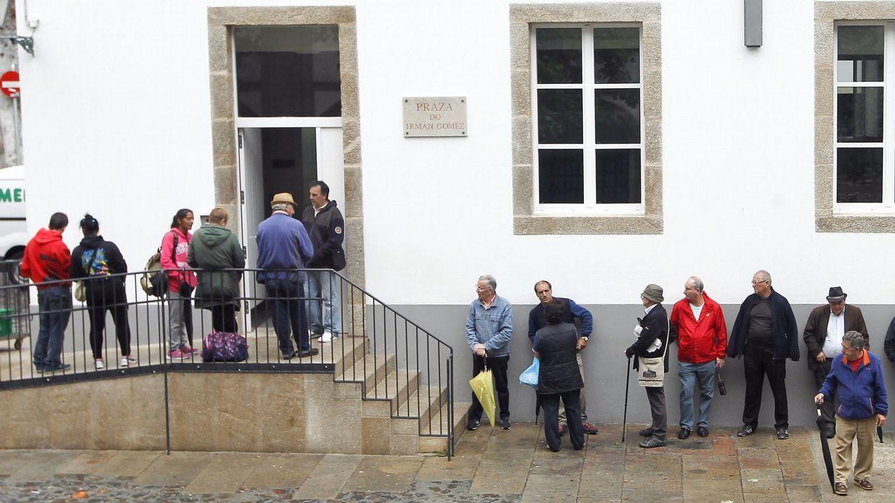 Inauguración del economato para personas necesitadas en A Coruña.Instalaciones del Banco de Alimentos