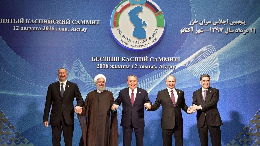 Mar Caspio. Pacto histórico sobre el estatuto de ese estratégico mar. Los Estados lindantes se reparten los hidrocarburos y el caviar. Efe_20180812_143958276
