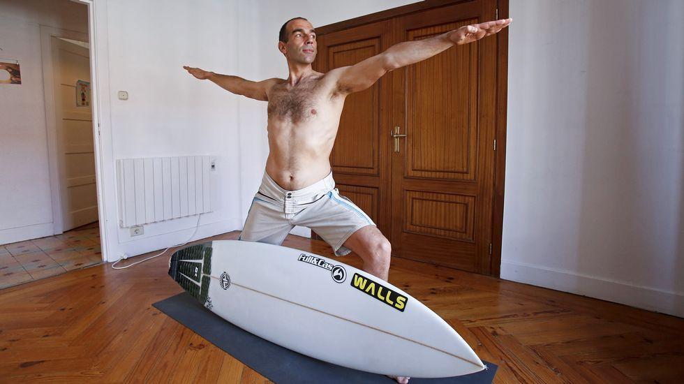 Una caída de «Óscar» del surf en Oia
