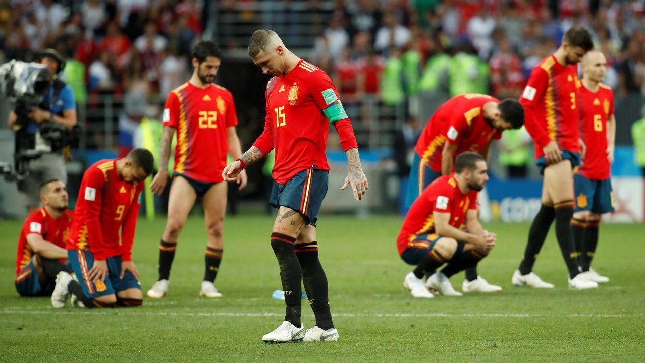 Las imágenes del duelo entre España - Rusia.