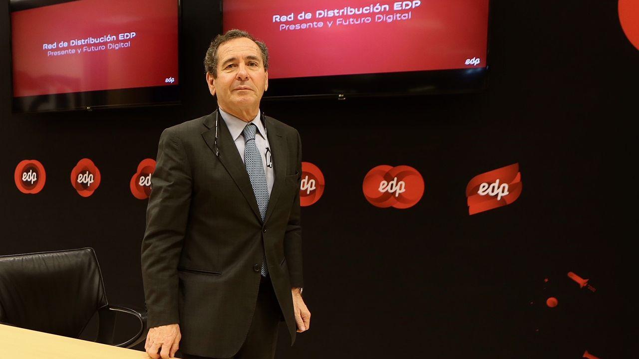 La nievepersiste en Asturias.Luis Álvarez, director de distribución eléctrica de EDP en España
