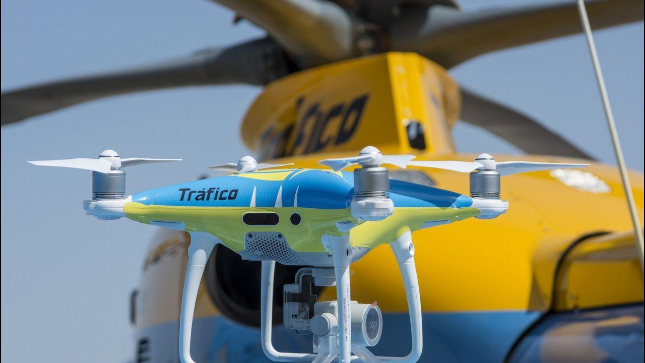 .Drones como el de la foto volarán sobre las carreteras españolas este verano