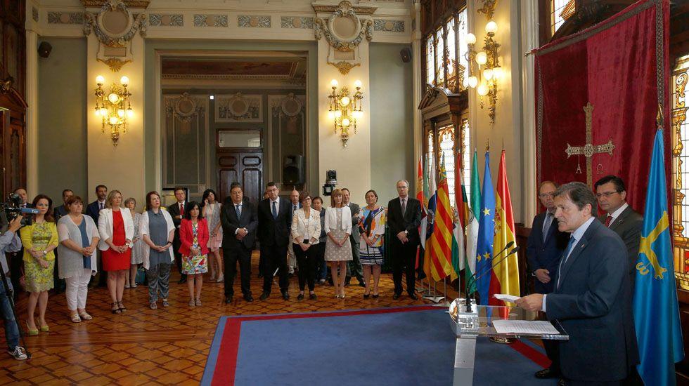 El presidente del Principado, Javier Fernández, en el encuentro de Coprepa