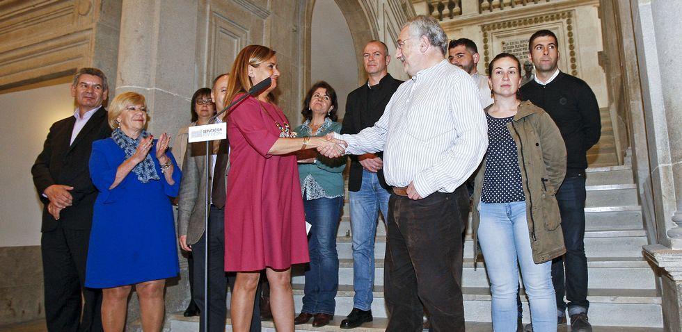 El gobierno de la Diputación de Pontevedra hizo ayer el balance de los primeros cien días de mandato.