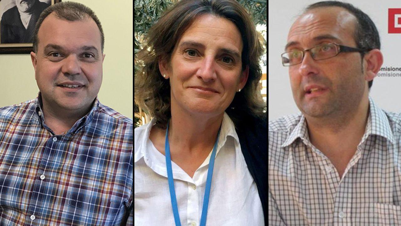 .José Luis Alperi, Teresa Ribera y Damián Manzano