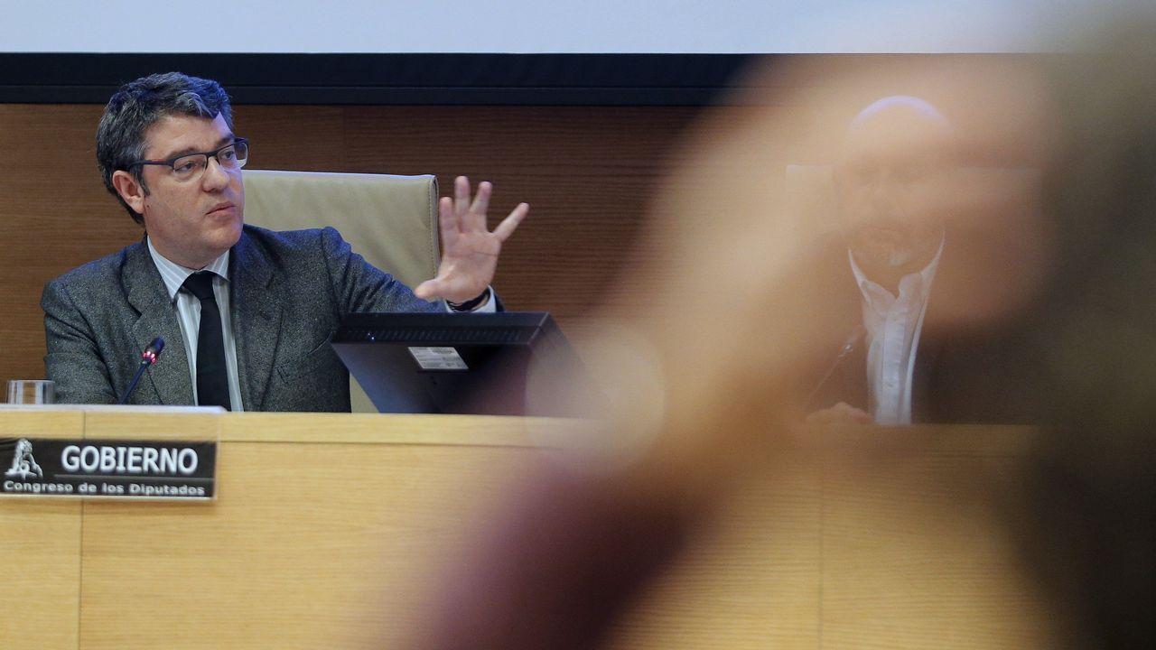Oficialidad del asturiano.Manuel Marín, durante el XXVII aniversario de la Constitución, en el 2005