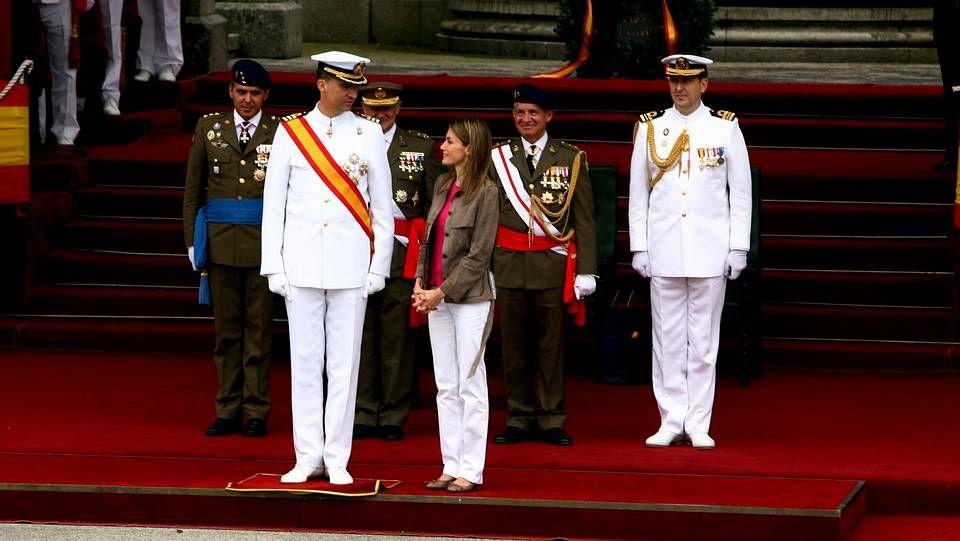 .En la entrega de despachos de los nuevos oficiales de la Armada en Marín en 2008.