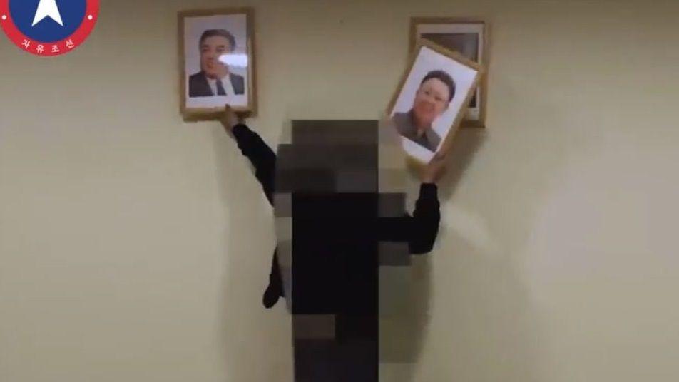 Imagen del vídeo que los autores del asalto afirman haber filmado en el interior de la embajada