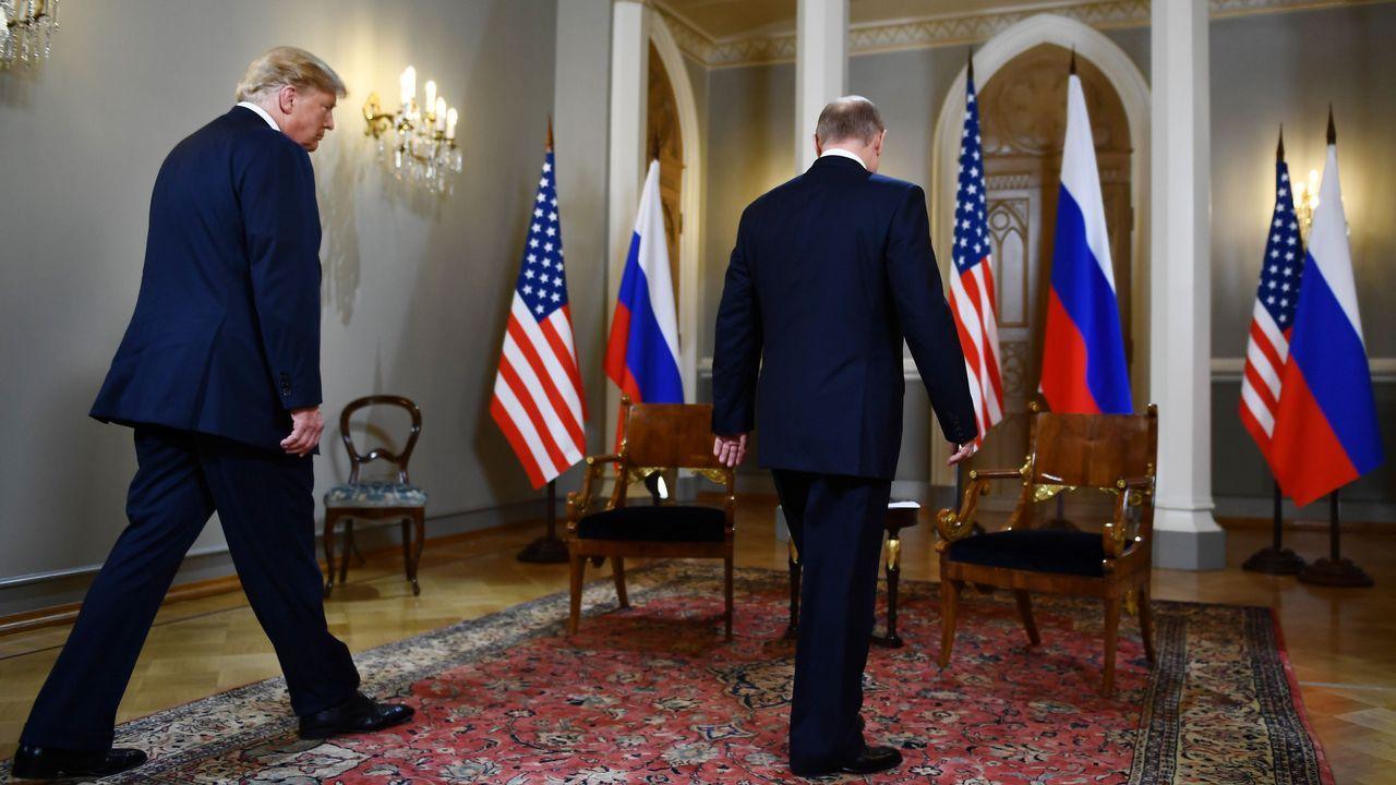 El presidente de Rusia, Vladimir Putin, llega a Vantaa, Finlandia