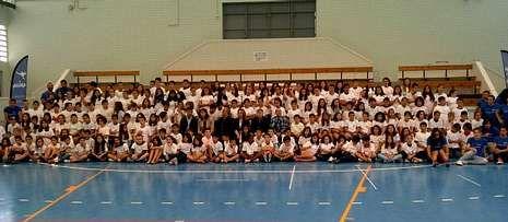 La ceremonia de clausura de los campamentos tuvo lugar en el colegio Calvo Sotelo.-