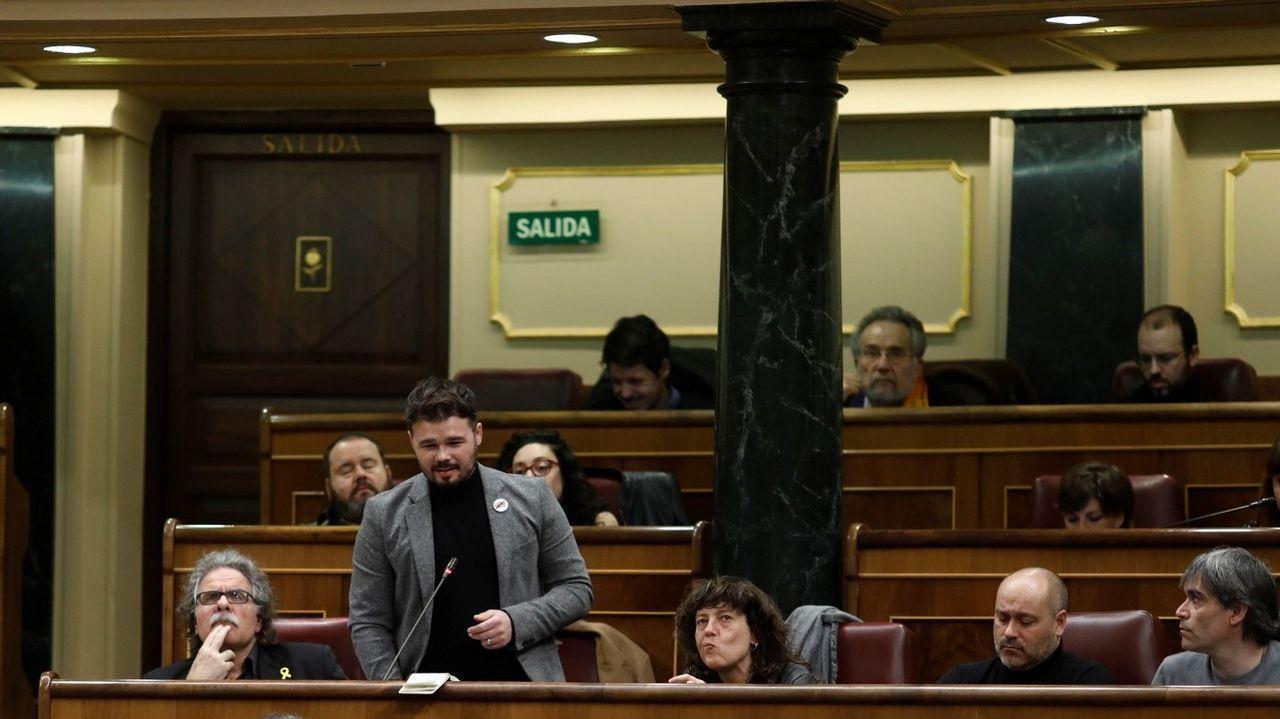 Santi Valls, uno de los 17 activistas del 1-O que declararon en el juicio
