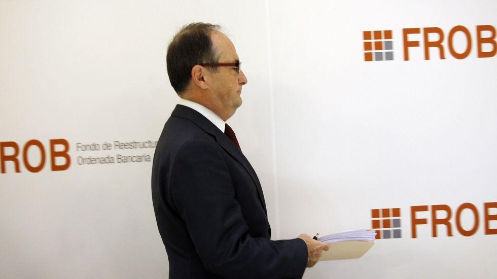 Juan Carlos Escotet y Xulio Ferreiro, en su encuentro