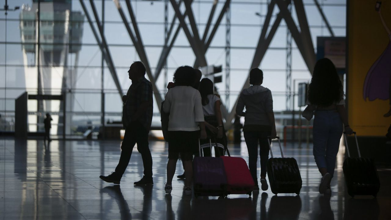 Maletas en el aeropuerto