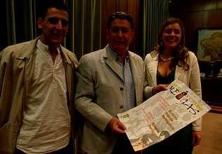 Óscar Vázquez, José Luis Valladares y Rosana Bernárdez presentaron «Á danza e ó son das meigas» que se celebra en Cea e Amoeiro | SANTI M. AMIL